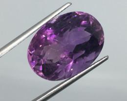 16.10 Carat VVS Amethyst Deep Purple -Rose Cut - Exquisite Color !