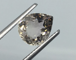 1.65 Carat VVS Tourmaline Pear Yellow Champagne Unheated Gorgeous !