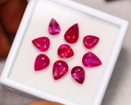 19.29Ct Ruby Pear Cut Lot LZ2408