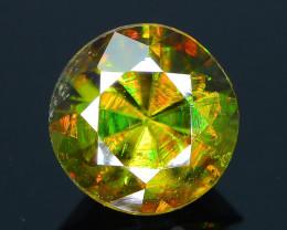 Rare AAA Fire 1.55 ct Chrome Green Sphene Sku-29