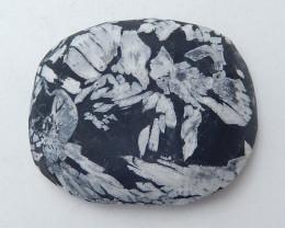 Chrysanthemum stone Gemstone Polished Black Healing Stone H3667
