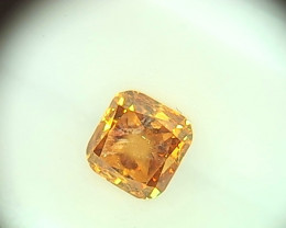 0.25ct Fancy Vivid brownish yellowish Orange  Diamond , 100% Natural Untrea
