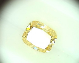 0.375ct Fancy Light grayish Yellow  Diamond , 100% Natural Untreated
