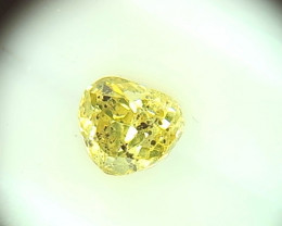 0.46ct  Fancy Intense yellowish Green Diamond , 100% Natural Untreated