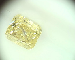0.30ct  Light grayish green Yellow Diamond , 100% Natural Untreated