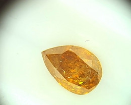 0.45ct  Fancy Deep Orange Diamond , 100% Natural Untreated