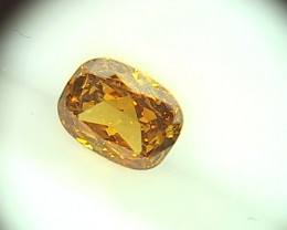 0.335ct Fancy Vivid brownish Orange  Diamond , 100% Natural Untreated