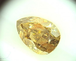 1.015ct  Fancy Brown Yellow Diamond , 100% Natural Untreated