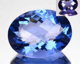 9.75Ct Wonderful change Natural Colour change Fluorite Oval Checkerboard
