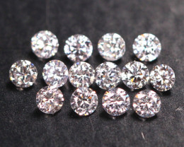 RARE 2.10mm VS Untreated Fancy Light Pink To White Color Diamond  B2405