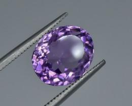 4.27 Crt Natural Amethyst Faceted Gemstone.( AG 7)