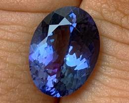 6.21 cts Certified Tanzanite - No Reserve - Investment Gemstone