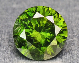 0.10 Cts Natural Green Diamond Round Africa