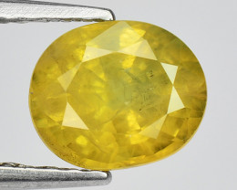 1.24 Ct Yellow Sapphire Top Quality  Luster Gemstone.YS 04