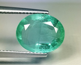"""3.91 ct """" Top Quality Gem """" Lovely Oval Cut Top Luster Emerald"""