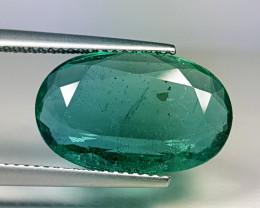 "6.27 ct "" Collector's Gem "" Fantastic Oval Cut Big Sized Emerald"