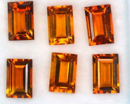 Glorious Calibrated Natural Citrine Baguette Parcel 9.92 Cts
