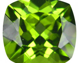 1.75 CTS SPARKLING AMAZING TOP FIRE PAKISTAN 7.10 MM CUSHION PERIDOT NR!!!