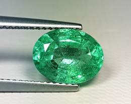 "2.53ct "" Top Grade Gem"" Amazing Oval Cut Top Luster Emerald"