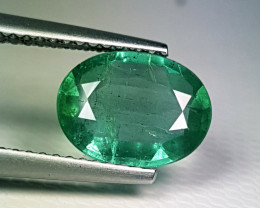 "1.82 ct "" Top Quality Gem"" Beautiful Oval Cut Top Luster Emerald"