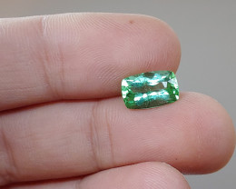 Unheated 2.65 CT Green Tourmaline (Kunar, Afghanistan)