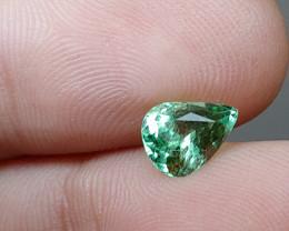 Unheated 1.23 CT Bluish Green Tourmaline (Kunar, Afghanistan) VVS!
