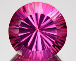 ~CONCAVE CUT~ 7.41 Cts Candy Pink Natural Topaz 12.00 mm Round Brazil