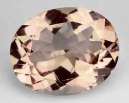 2.48 Cts Natural Morganite Peach Pink Oval Cut Brazil