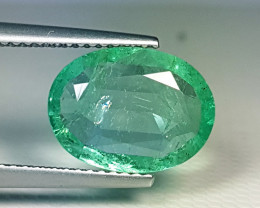 """2.91ct """" Top Quality Gem"""" Lovely Oval Cut Top Luster Emerald"""