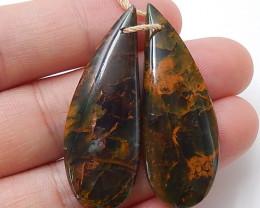 Green opal Gemstone Earrings beads, stone for earrings making B511