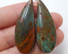 Green opal Earrings Gemstone beads, stone for earrings making B512
