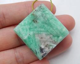 Unique Emerald Gemstone Bead ,Emerald Pendant ,Green Emerald B515