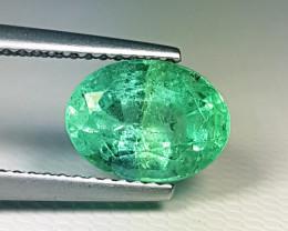 "2.40 ct "" AAA Top Luster Gem"" Fantastic Oval Cut Natural Emerald"