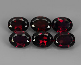 8.75 CTS MAGNIFICENT NATURAL RARE TOP QUALITY  DARK RED RHODOLITE NR!!