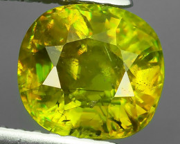 1.95~CTS OVAL CUT 100% NATURAL RARE GREENISH~YELLOW COLOR MADAGASCAR SPHENE