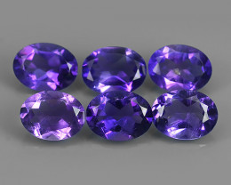 6.25 Cts Natural Purple Amethyst Exquisit Oval Cut Glister!!!