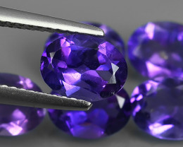 6.65 Cts Natural Purple Amethyst Exquisit Oval Cut Glister!!!