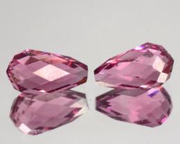 Impressive Natural Pink Tourmaline Briolette Pair