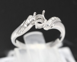 Semi Mount 4x3-4.5x3.5mm 18K Fine Jewelry White Gold G/VS  Diamond Ring V11