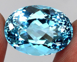 21.75ct.100% Natural Earth Mined Top Quality Blue Topaz Brazil
