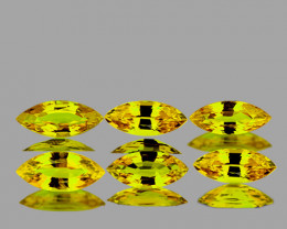 5x2.5 mm Marquise 6 pcs 0.85ct Canary Yellow Sapphire [VVS]