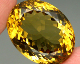 22.56ct. 100% Natural Unheated Top Yellow Golden Citrine Brazil