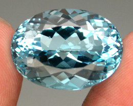 20.90 ct. Natural Swiss Blue Topaz Top Quality Gemstone Brazil