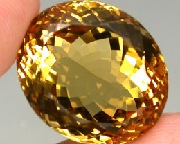 28.34ct. 100% Natural Top Yellow Golden Citrine Brazil