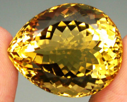31.07ct. 100% Natural Unheated Top Yellow Golden Citrine Brazil