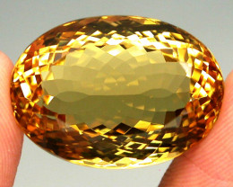26.50ct. 100% Natural Unheated Top Yellow Golden Citrine Brazil