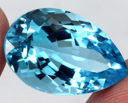23.54ct.  100% Natural Top Sky Blue Topaz Brazil
