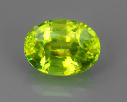 1.65~ CTS OVAL CUT 100% NATURAL RARE GREEN COLOR MADAGASCAR SPHENE GEM!