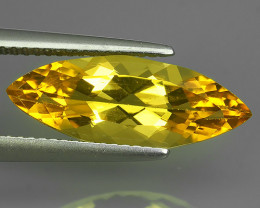 3.50 CTS AMAZING NATURAL RARE GOLDEN YELLOW BERYL MARQIUSE NR!!!