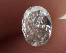 Superb  IGL Certified $452 Natural 0.32ct. Oval White Diamond